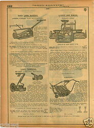 1921 Paper Ad 4 Pg Push Reel Lawn Mower Rolo Keen Kutter Horse Drawn Townsendand039s