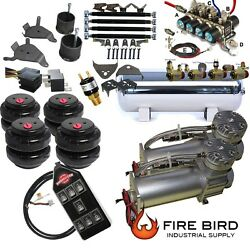 D Chevy S10 Air Kit 5gal 2500 Bags 1/2 Valve Avs 7 Switch Fittings 5 Gal