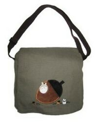New My Neighbor TOTORO Messenger Tote Olive Green Anime gift 60103 Canvas Kawaii $39.95