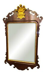 Chippendale Style Mahogany Colonial Williamsburg Antique Mirror