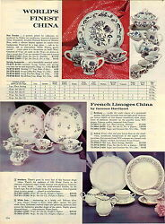 1963 Paper Ad Haviland French Limoges China Dinnerware Franciscan Earthenware
