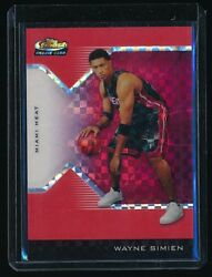 Wayne Simien 2004-05 Finest Rc X-fractor Red 219 008/119 Miami Heat