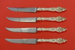 Les Six Fleurs By Reed And Barton Sterling Silver Steak Knife Set 4pc Hhws Custom