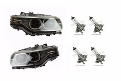 For BMW F30 Set of Left & Right Headlight Assembly Bi-Xenon w Bulbs OEM