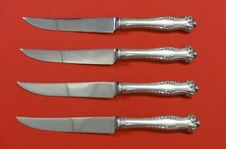 Canterbury By Towle Sterling Silver Steak Knife Set 4pc Hhws Custom 8 1/2
