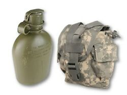 Acu 1 Quart Cover/general Utility Pouch + 1 Qt Canteen - Us Military Molle