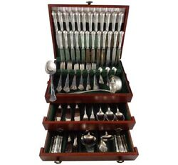 Chippendale by Hb Hammer German 800 Silver Flatware Set For 12 Service 140 Pcs