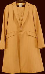 Reed Hill Saddleseat Suit 3 Piece Pumpkin Spice / Bronze Poly 12 - Made In Usa