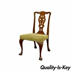 Antique Mahogany Chippendale Federal Queen Anne Style Dining Side Desk Chair
