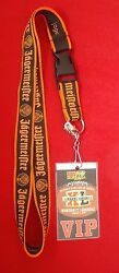 Vintage Jagermeister Lanyard With Super Xi Miami Classic Rock 105 Vip Party Pass