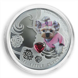Fiji 2 dollars My Little Puppy Yorkshire Terrier Dog silver proof coin 2013