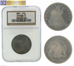 Key Date 1886 Seated Liberty Silver Half 50c Dollar Ngc Pf Pr 66 Proof Coin