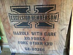 Excelsior Henderson - 2 Wooden Crate Ends - 00266 - 1 End Signed - 45 X 46