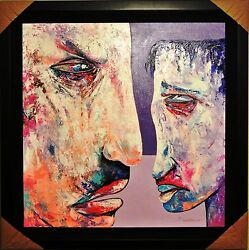 Berberyan Arbe-youand039re Not Listening-framed Original Painting/canvas/signed/coa