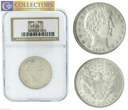 KEY DATE 1894 Barber Silver Half 50c Dollar NGC PF PR 65 Proof Certified Coin