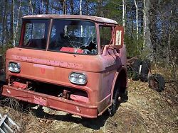 1958 Ford Cabover Coe Fire Truck Cab And Chassis 58 59 60 Rat Rod Tow Truck Hauler
