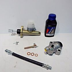 Mgb Clutch Hydraulics Deluxe Kit Cast Iron Master Slave Hose And More 1963-80