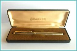 Parker 75 Cisele Fountain Pen Sterling Silver 1960's - New Nib F Just Serviced