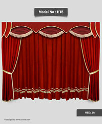 Saaria Home Theater Curtains Stage Backdrop 14and039w X 8and039h Custom Colors Available