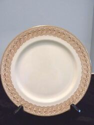 Antique Royal Doulton 9 China Plates Gold Gilded On Ivory Set Of 12 Dishes