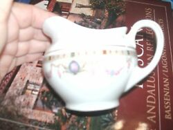 Porcelain Creamer And Small Oval Plate From Germany