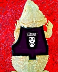 Lil#x27; Bestie Bearded Dragon reptile Harness and Leash MISFITS