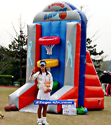 9x6x12 Inflatable Carnival Basketball Game Bounce Castle Slide Obstacle Course