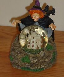 Lenox Halloween's Magical Spell Snowglobe 3.75h Witch