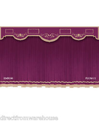 Saaria Retro Style Velvet Curtain Home Theater Hall Restaurant