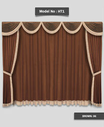 Saaria Stage Curtains For Home Theater Movie Event Decor Church 15and039w X 9and039h Ht-1