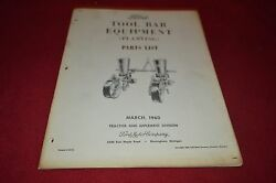 Ford Tractor Tool Bar Equipment Planting Parts Book Manual Dcpa5