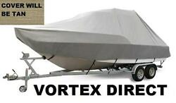 New Vortex Tan/beige 24and039 T-top Center Console Boat Cover