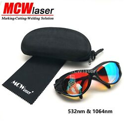 5x Laser Safty Protective Goggles Glasses 1064nmand532nm Engraving Marking Cutting