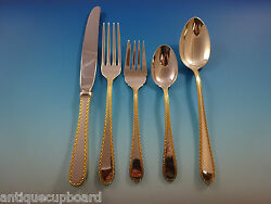 Golden Winslow By Kirk Sterling Silver Flatware Service For 8 Set 48 Pieces