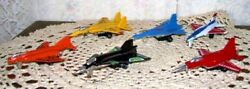 Fighter Jets Toy Lot Of Six Airplanes