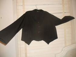 Crea Concept France Art To Wear Lagenlook Black Quirky Boxy Jacket