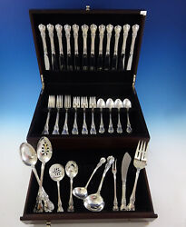 Old Master By Towle Sterling Silver Flatware Set For 12 Service 57 Pieces