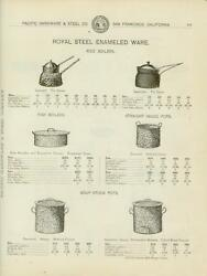 Catalog Page Ad Royal Steel Enameled Ware Tin Agateware Pots Pans Cake 1902