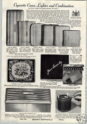 1941 Paper Ad Dunhill Turn O Top Silent Flame Table Cigarette Lighter Mesh Bag