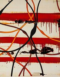Mark Francis 'orbital' 2001 Signed Lithograph With Spot Varnish 30x24 Ed. 150