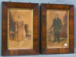 Stunning Pair Of Antique Watercolor Paintings Signed, Identified, And Dated Wow