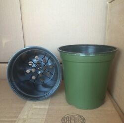 1 gallon trade plastic Nursery 6quot; x 6quot; Flower Pots *SAME DAY SHIPPING*
