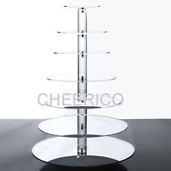 7 Tier Maypole Mirrored Effect Cupcake Stand Cupcake Tower