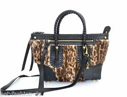 ALEXANDER McQUEEN OCELOT AND LEATHER MEDIUM FOLK SKULL TOTE SHOULDER BAG BNWT