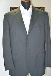 New Kiton Suit Gray 55 Wool 45 Cashmere  Size 46 R8 Us 56 R8 Eu