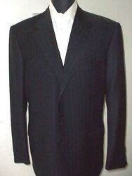 New Brioni Suit 100 Wool  45 Us 55 Eu Made In Italy Br16