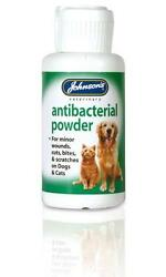 Johnsonand039s Antibacterial Wound Powder 20g Dog Antiseptic Soothing Minor Wounds