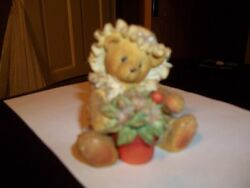 Cherished Teddies Violet Bear  Blessings Bloom When You Are Near 7dd1/319