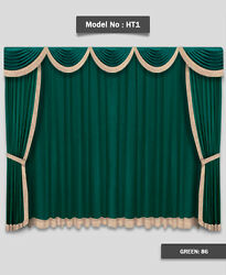 Saaria Home Theater Event Stage Movie Hall Decor Curtain Drapes 14'W x 10'H HT-1