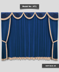 Saaria Home Theater Movie Hall Drapes Event Stage Decor Curtains 12'W x 8'H HT-1
